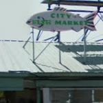 City Market Sign at Pike Place Market