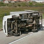 Truck accident (StreetView)