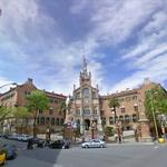 Beautiful facade of the Hospital de Sant Pau (StreetView)