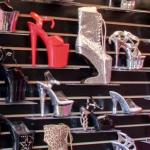 Platform high heel shoes