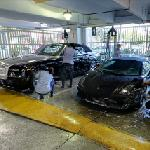 Washing a Lamborghini and a Rolls Royce