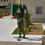 'Angel Raphael ' statue at the entrance of Vranjic (StreetView)