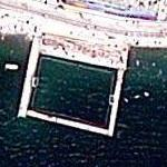 Water Polo playing court in the sea (Google Maps)