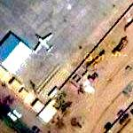 Airplane, downtown Bagdad (Google Maps)