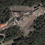 Remains of Avala TV Tower (Google Maps)