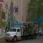 "Graffiti by ""Weah' in progress (StreetView)"