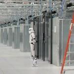 Star Wars Stormtrooper Guarding Google Data Center