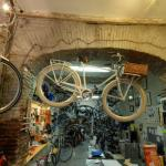 Ancient arch in a Roman bicycle shop (StreetView)