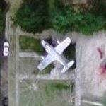 Douglas F3D Skyknight in a playground (Google Maps)