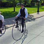 Penny-farthing rider