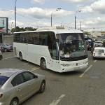 Bus doing strange things on the street (StreetView)