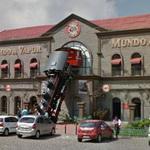Locomotive on the facade