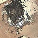 Damaged building from concrete factory (Google Maps)