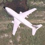 Airplane (Delta 737) in flight (Google Maps)