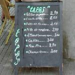 Handwritten menu (StreetView)