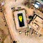 Insignia of US Army's 1st Cav in Baghdad (Google Maps)