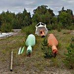 Buoys on dry land (StreetView)