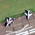 Old jets at former RAF Cranfield