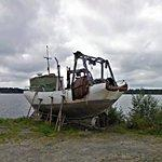 Fishing boat that has seen better days