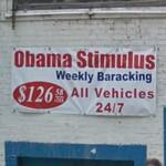 Obama Stimulus Weekly Baracking (StreetView)