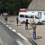 Film crew for the Danish sit com Hvor faen er Herning (StreetView)