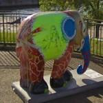 Decorated elephant by Smike Käzner