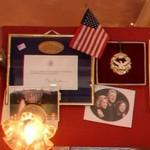Letter from President Clinton, a medal and a photo