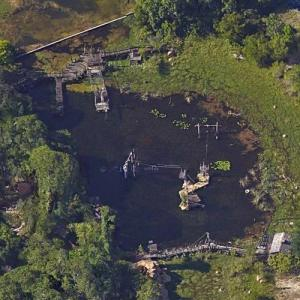 Abandoned Disney Water park - River Country (Google Maps)