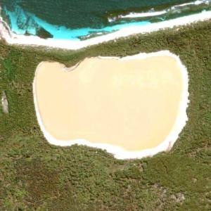 Lake Hillier (Google Maps)