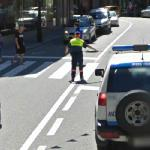 Directing traffic (StreetView)