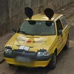 Yellow mouse car (Truly Nolen)