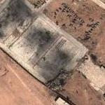 Clean up of destroyed hangars (Google Maps)