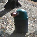 Guy in Trash Can