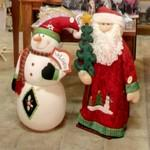 Santa and snowman (StreetView)