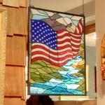 Stained glass Stars and Stripes (StreetView)