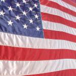 US flag close-up