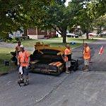 Roadworkers watching the Google car (StreetView)