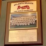 1995 World Series Champions plaque: Atlanta Braves (StreetView)
