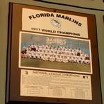 1997 World Series Champions plaque: Florida Marlins