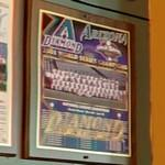2001 World Series Champions plaque: Arizona Diamondbacks