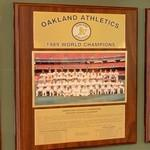 1989 World Series Champions plaque: Oakland Athletics (StreetView)