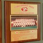 1990 World Series Champions plaque: Cincinnati Reds