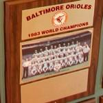 1983 World Series Champions plaque: Baltimore Orioles