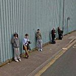 Waiting for the bus (StreetView)