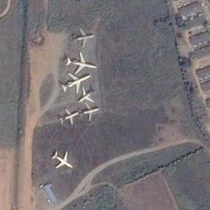 Aircraft boneyard at Murtala Muhammed International Airport (Google Maps)