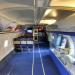 Inside Southwest Airlines airplane