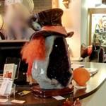 The Mad Hatter's hat with orange hair (StreetView)