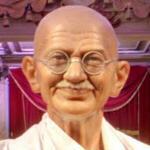 Mahatma Gandhi wax figure