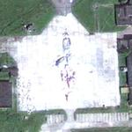 Polish Air Force Tu-154M aircraft debris at Smolensk airfield (Google Maps)