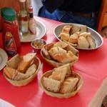 Sliced baguettes